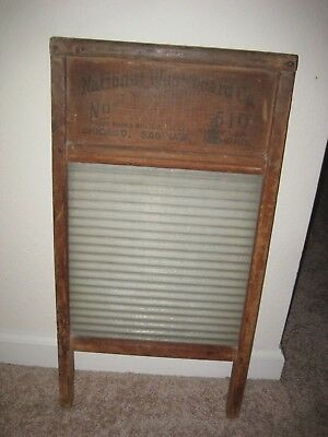 Vintage - Antique National Washboard Co. / No. 510 / Ribbed Pattern Glass