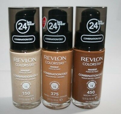 Revlon Colorstay Make Up pump Foundation NEW Choose Shade Combination/Oily Skin