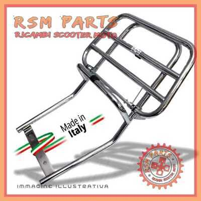 6635736 Chrome plated rear luggage rack with flap Vespa 50 Special