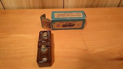 vintage radio lightning arrester in box Eagle Electic Lightning Arrester N.Y.