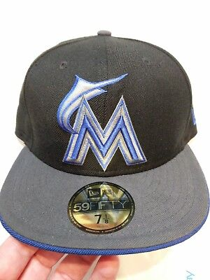3b9849c8fd136 ... where to buy new miami marlins mens new era 59fifty baseball mlb fitted  hat black 7