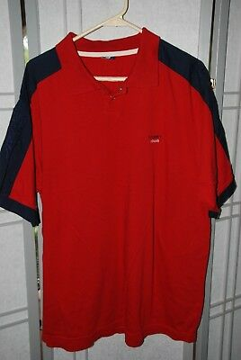 Vintage Tommy jeans Red Polo Mens Size XL Flag