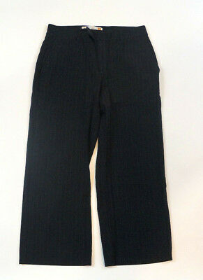 Old Navy Essential Stretch Capri Size 2 Black Pinstripe Career Dress Pants