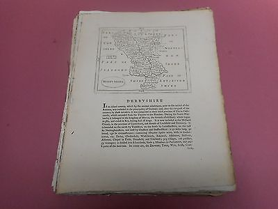 100% Original Derbyshire Map By Seller/grose C1790 Vgc