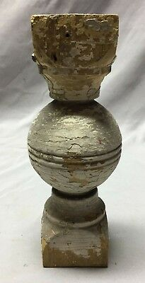 Antique Ball Finial Spindle Shabby Vintage Chic 136-19C