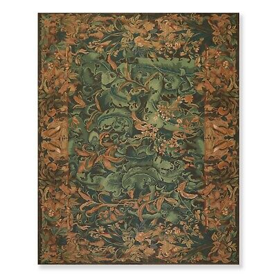 8' x 10' Hand Woven Wool French Aubusson Needlepoint Area Rug Traditional 8x10
