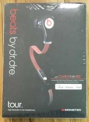 New Beats by Dr. Dre Beats Tour Headphone In-Ear Earbuds w/ Remote & Mic Black