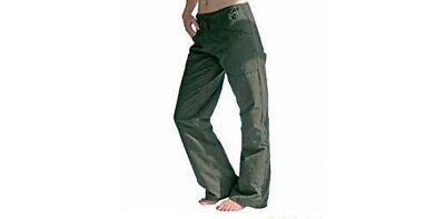 ladies walking hiking camping utility roll up holiday casual trousers Olive NEW