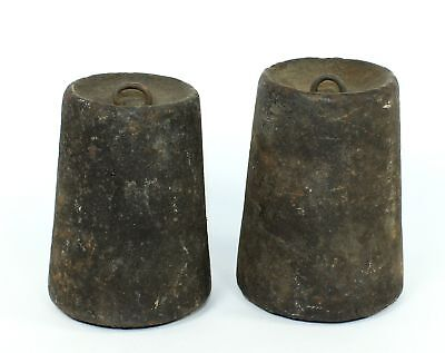 PAIR of ANTIQUE AMERICAN WEIGHT DRIVEN CLOCK WEIGHTS SP367