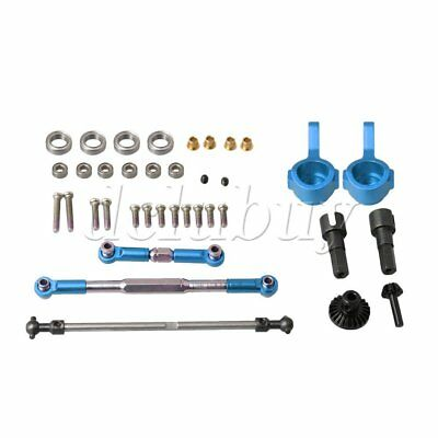 Blue WPL1615 RC1:16 Steering Linkage Rod Front Gear Combo for WPL Car