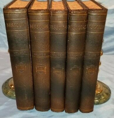 MISSOURI: MOTHER OF THE WEST - 1930 1st Ed., Five Volumes Complete