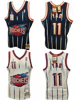 ... Houston Rockets Yao Ming Mitchell   Ness Mesh NBA Navy Swingman Jersey.