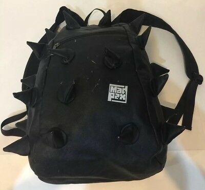 3417ff5bee79 Mad Pax Full BACKPACK Spiked Black Faux Leather Spiketus Rex madpax  Distressed