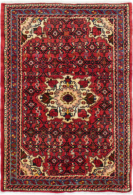"""Hand-knotted Persian Carpet 3'3"""" x 4'10"""" Persian Traditional Wool Rug"""