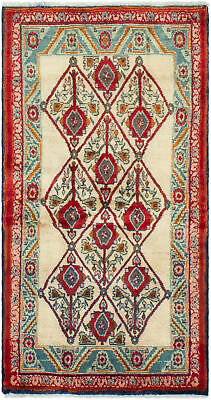 """Hand-knotted Persian Carpet 2'8"""" x 5'4"""" Koliai Traditional Wool Rug"""