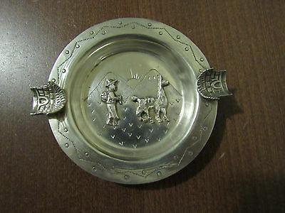 Vintage Giurco Peruvian .925 Sterling Silver Ashtray MADE IN PERU