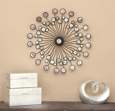 Wall Metal Art Modern Abstract Decor Home Bronze Sculpture Large Hanging Unique