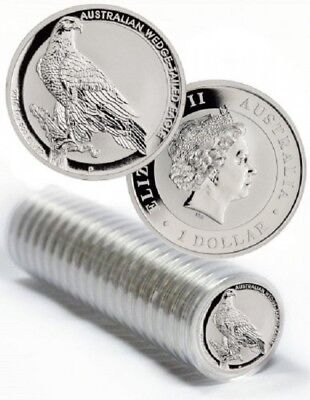 Mint Roll of 20 x 2016 Australia 1 oz Perth .999 Silver Wedge Tailed Eagle