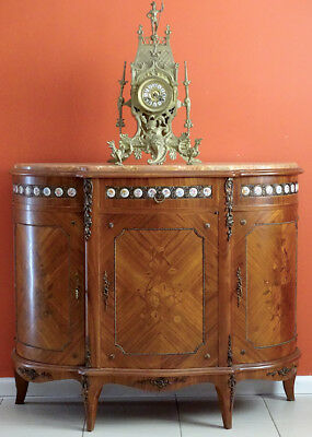 Antique Vintage  French Louis XV Sideboard Console Cabinet TV Stand in Walnut