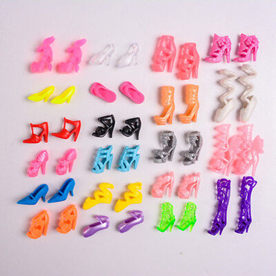 Fashion Party Daily Wear Dress Outfit Clothes Shoes For Barbie Doll 2 Pairs