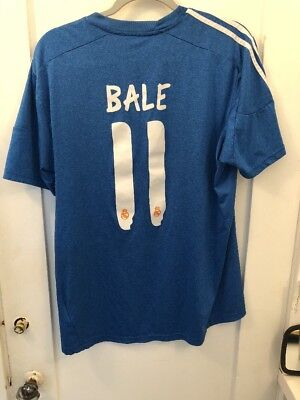 e154d52bc Large Real Madrid jersey shirt  11 BALE 2013 2014 Away official adidas  football