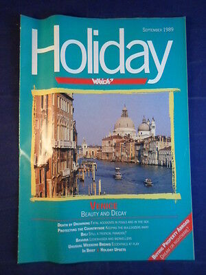 Vintage - Which? Holiday magazine - September 1989