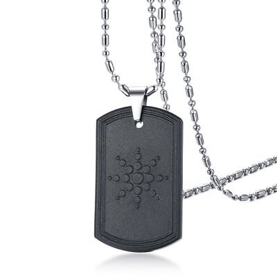 Quantum Scalar Energy Pendant Necklace Volcanic Lava Dog Tag Anti EMF Radiation