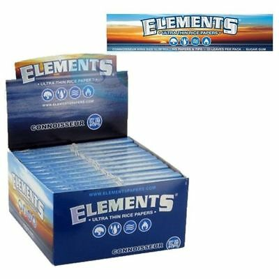 Elements Connoisseur King Size Slim & Tips Rolling Paper - 10 PACKS - Ultra Thin