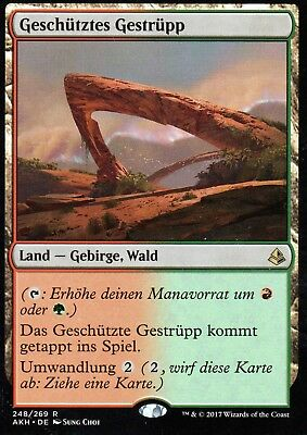 Geschütztes Gestrüpp / Sheltered Thicket | NM | Amonkhet | GER | Magic MTG