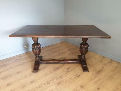 Antique Refectory Oak Table In 17th Century Taste
