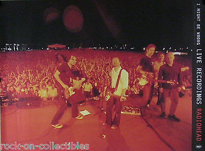 Radiohead 2001 I Might Be Wrong Live Recording Original Promo Poster