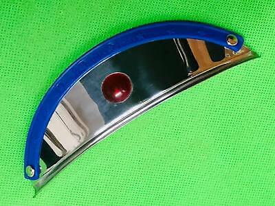 Biemme Blue Peak With Red Gem Stainless Steel Headlamp Visor Vespa Lambretta