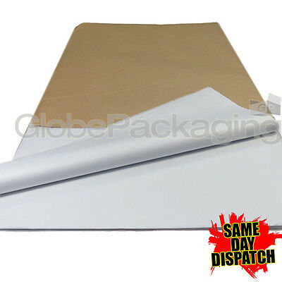 250 SHEETS OF WHITE ACID FREE TISSUE PAPER 400x700mm