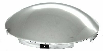 "hub caps(2) front 4 notch 7/16"" lip dome chrome for Kenworth Pete FL steel wheel"