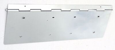 license plate holder dual piano hinged chrome steel for Kenworth Freightliner