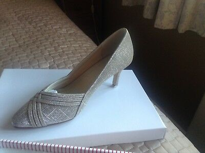 3ced43098a7 Rainbow Club Mother Of The Bride Pippa Metallic Sparkle Shoes Size 5   Bag
