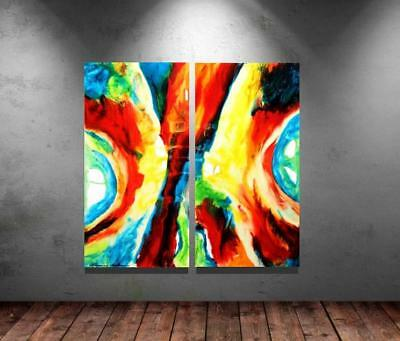 Large Original Modern Canvas Color Resin Abstract Art Painting Tara Baden Signed