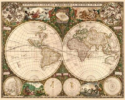 FINE-ART-PRINT-De-Wit--Frederick-World-Map-Poster-Paper-or-Canvas-for-home-decor