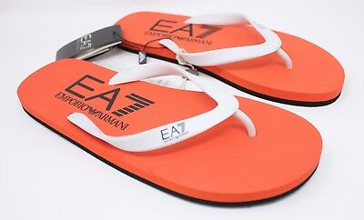 a2fd1ce4d10c EMPORIO ARMANI Mens EA7 7 Colors Flip Flops Sandals Thongs Orange Black Sz  10