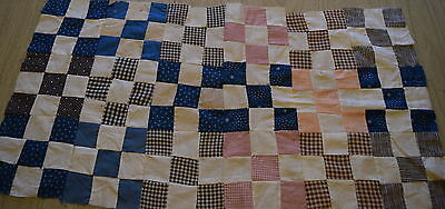 18 1890-1910 small 9 Patch quilt blocks, blues, mourning prints