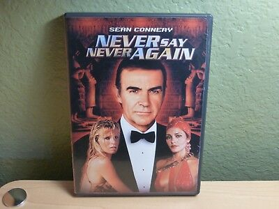 Never Say Never Again DVD w/Booklet Sean Connery Irvin Kershner James Bond OOP