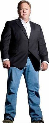 "Alex Jones Infowars 70"" tall Lifesize CARDBOARD CUTOUT Standee Standup"