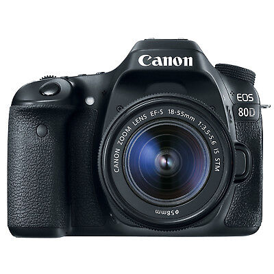 Canon EOS 80D Digital SLR Camera with EF-S 18-55mm f/3.5-5.6 IS STM Lens