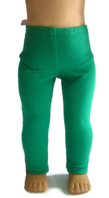 """For 18"""" American Girl Doll Clothes St Patrick's Day Green Knit Leggings"""