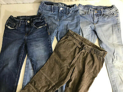 LOT OF 4 PAIRS OF BLUE JEANS GAP Kids Sz 8 & 10
