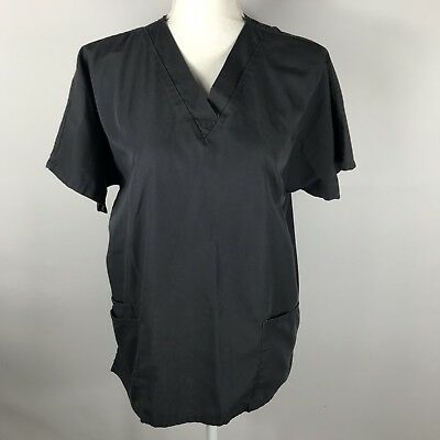 Cherokee Workwear Unisex Scrub Top Style #4700 Size Medium Pewter