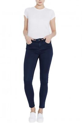 RRP £52 WAVEN WOMENS ANIKA SKINNY JEANS SOLID NAVY
