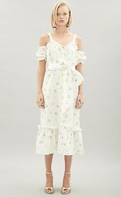 🌻 Hansen and Gretel 🌻 Tara Linen Floral Dress XL 14 16 Races Party David Jones