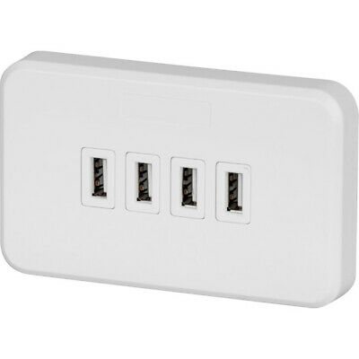 PS4071 JACKSON 4 Port USB Charging Wall Plate 240V In 5V Out 3.15A Pt9804