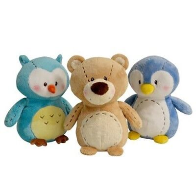 Soft Plush Baby Owl Bear Penguin Toy by Korimco Stuffed Toys Woodland Collection